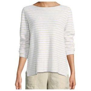 NWT Eileen Fisher Organic Linen Stripe Sweater